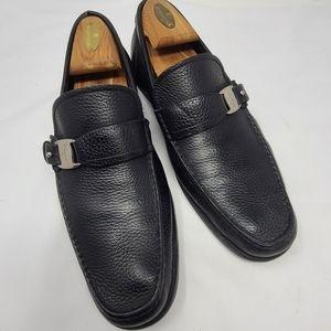 Salvatore Ferragamo Black Leather Loafers Size 9.5